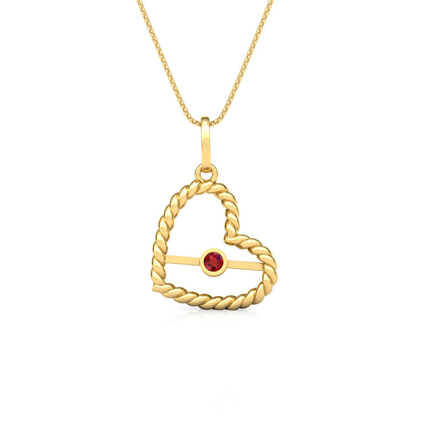 Gold Pendants 14 Karat Yellow Gold You Set Me Free Gemstone Pendant