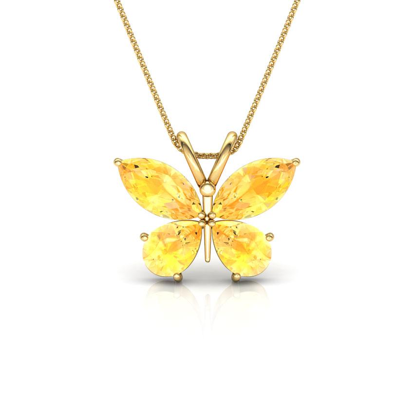 Glitter Butterfly Pendant