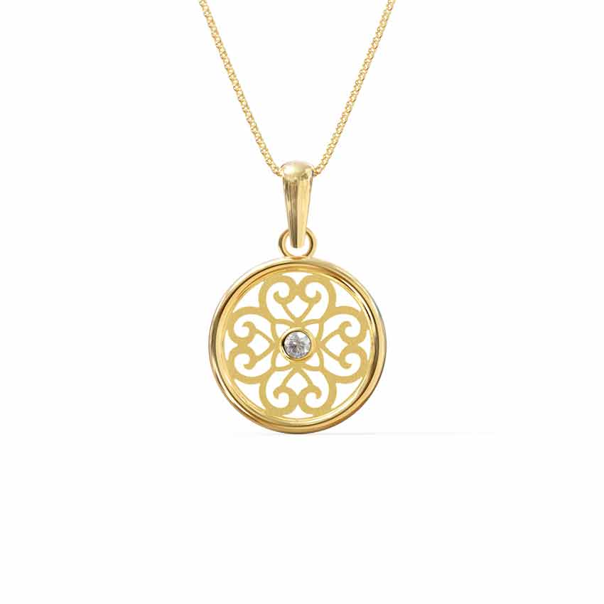 Filigree Cutout Pendant