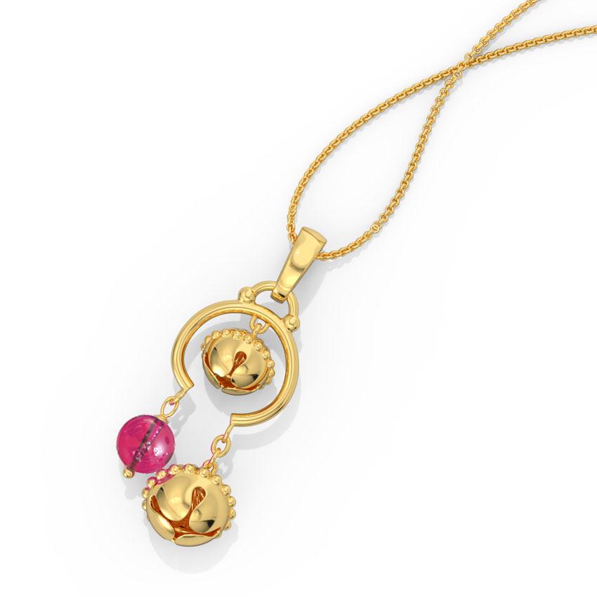 Madhavi Gold Pendant