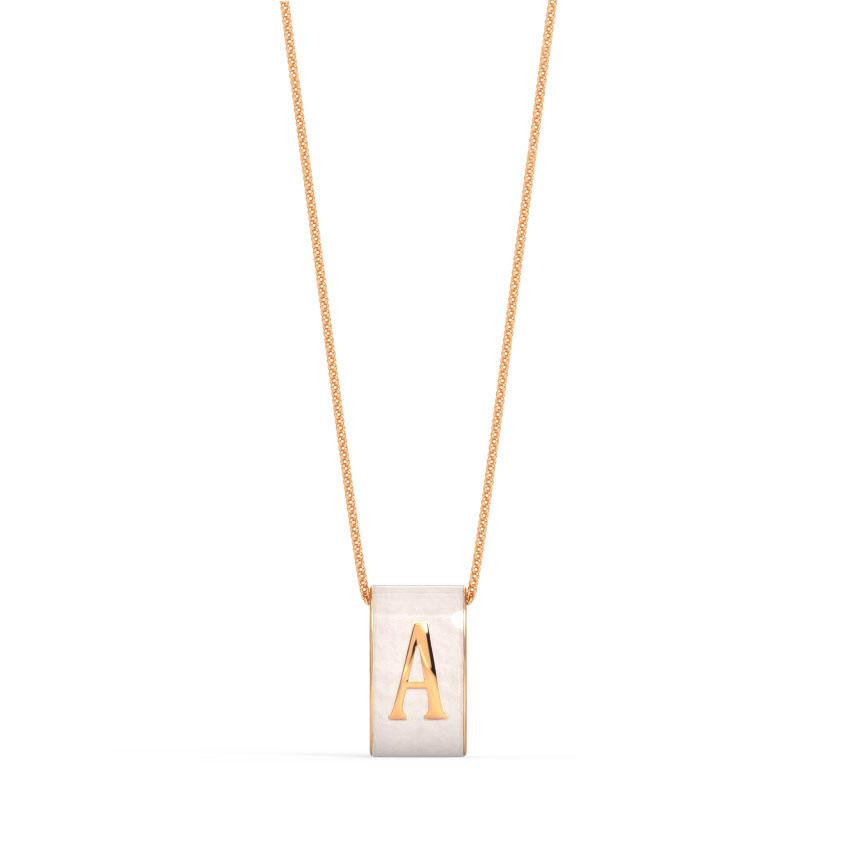 Alphabet A Vibrant Pendant