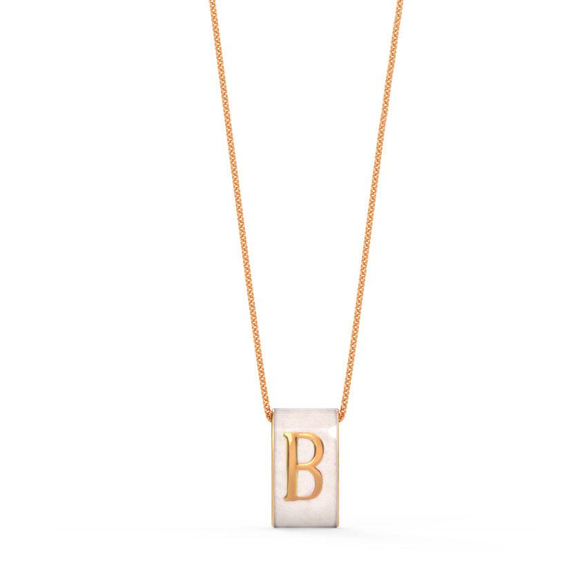 Alphabet B Vibrant Pendant
