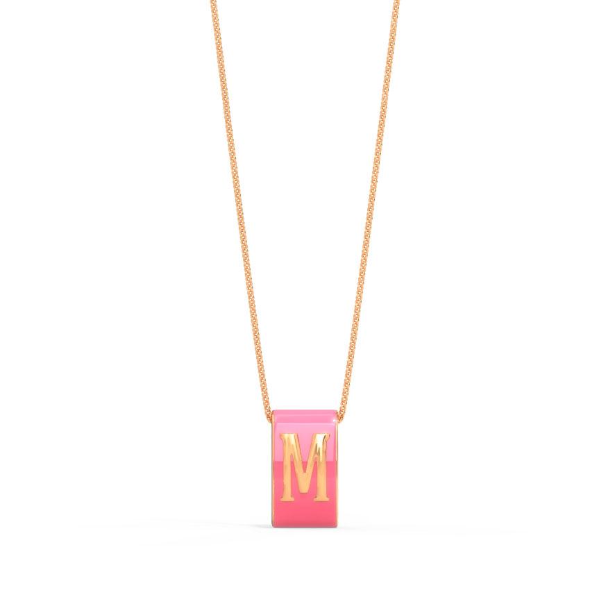 Alphabet M Vibrant Pendant