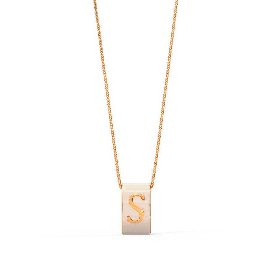 Alphabet S Vibrant Pendant