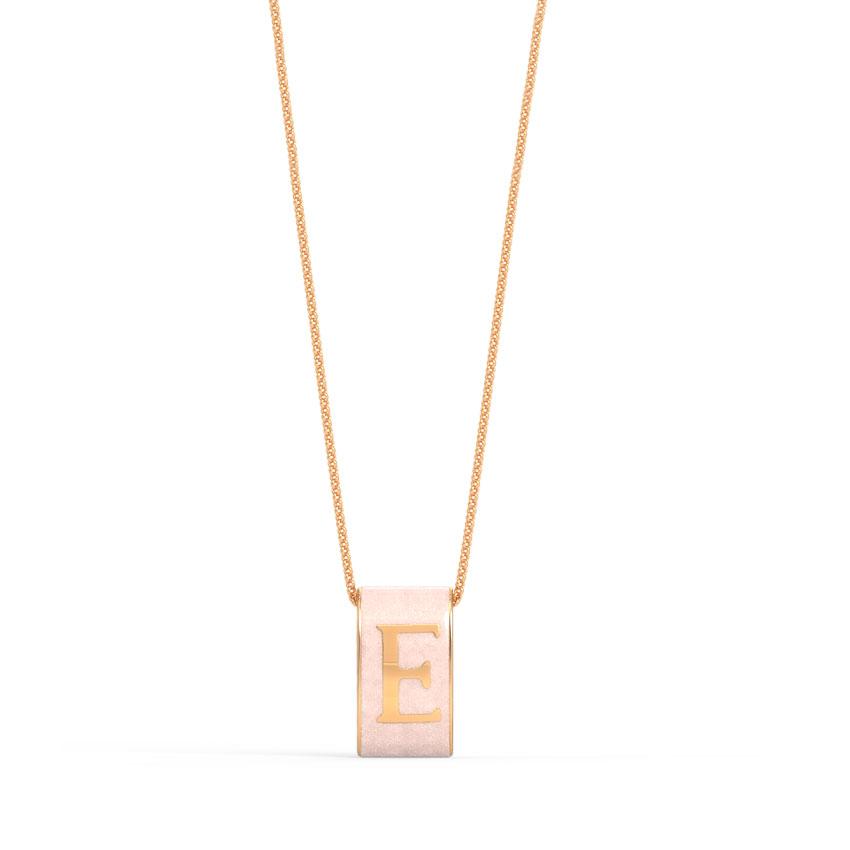 Alphabet E Vibrant Pendant