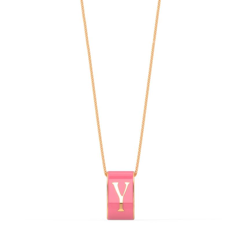 Alphabet Y Vibrant Pendant