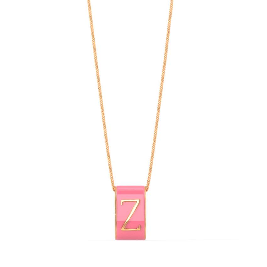 Alphabet Z Vibrant Pendant