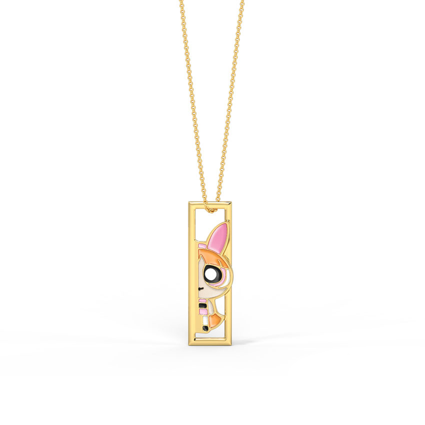 Gold Pendants 14 Karat Yellow Gold Sneaky Blossom Kids' Gold Pendant