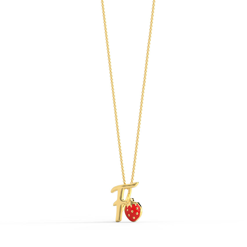 Berry Alphabet F Kids' Pendant
