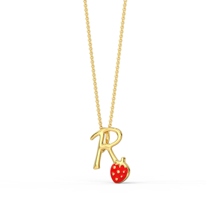 Berry Alphabet R Kids' Pendant