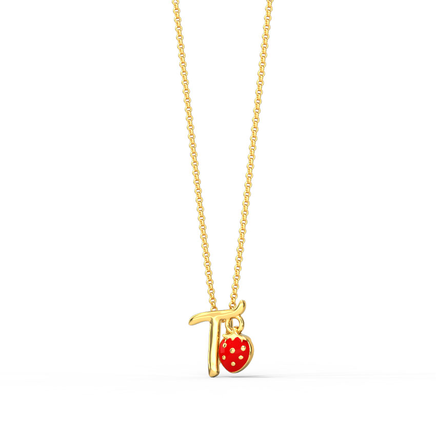 Berry Alphabet T Kids' Pendant