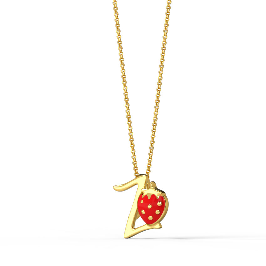 Berry Alphabet Z Kids' Pendant