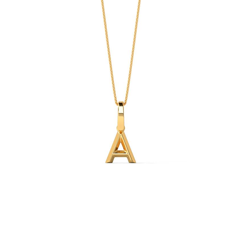 Bold Alphabet A Pendant