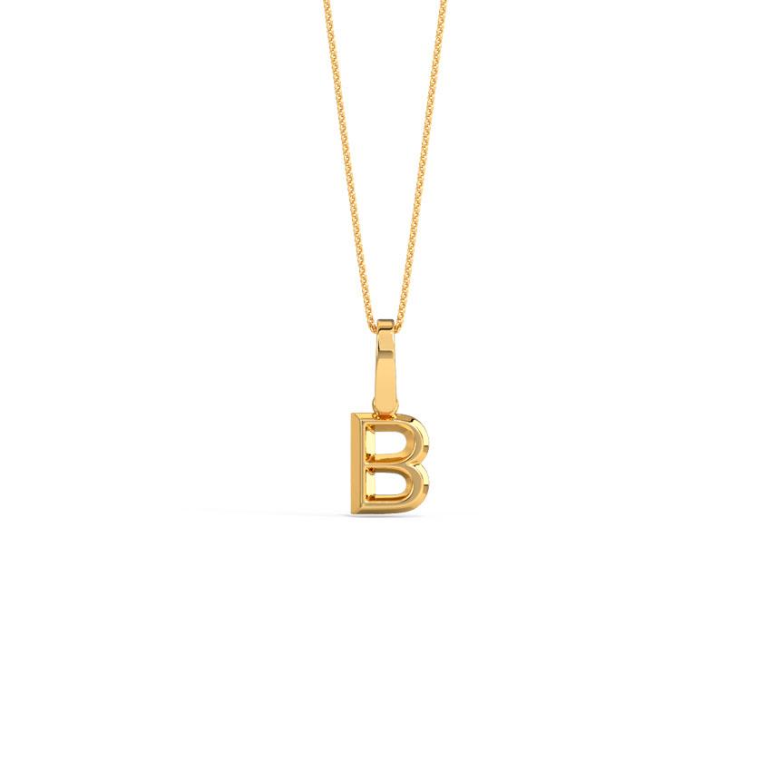 Bold Alphabet B Pendant