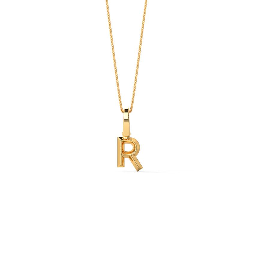 Bold Alphabet R Pendant