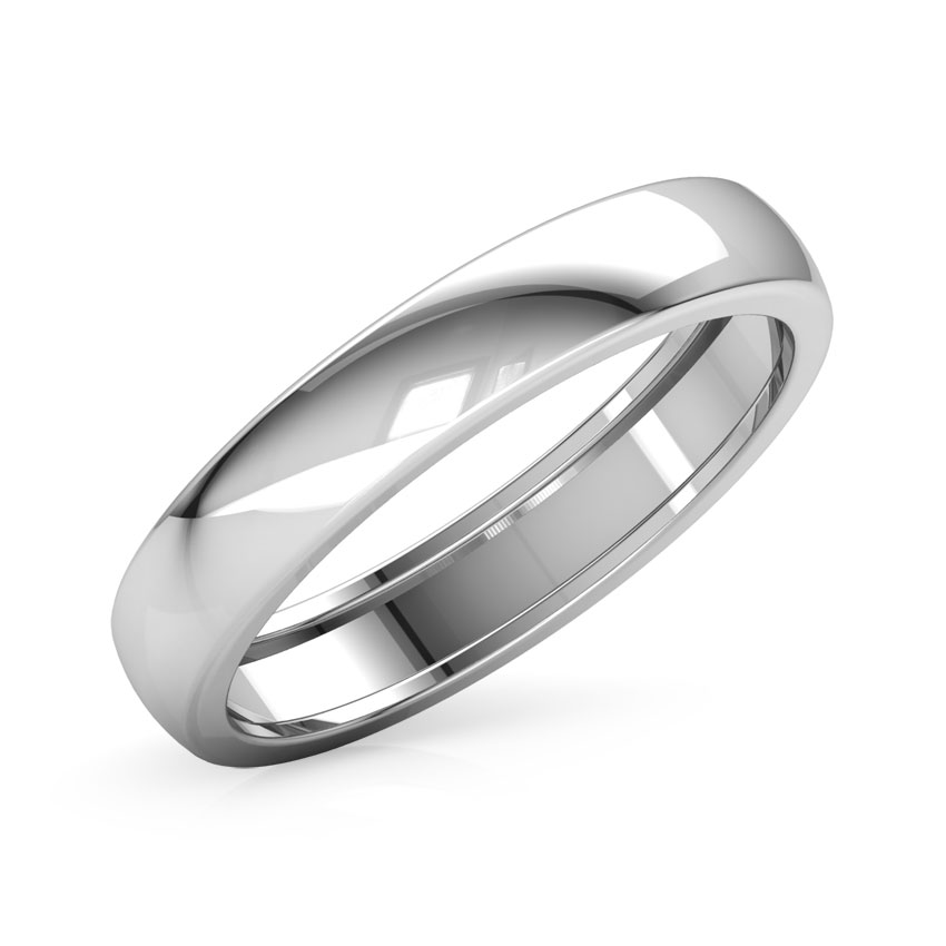 paris platinum band for him - Wedding Ring Man