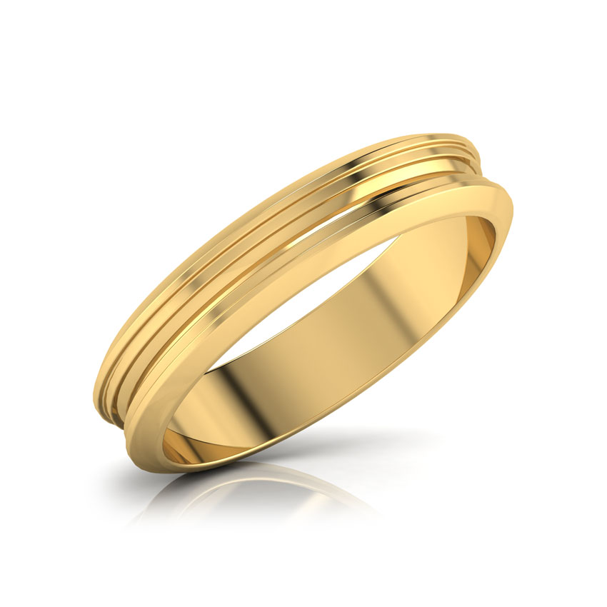 Zeno Gold Band for Him Jewellery India line CaratLane