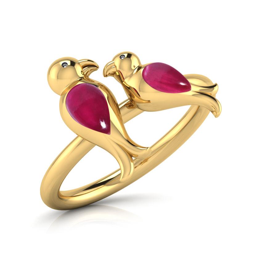 Adore LoveBirds Ring