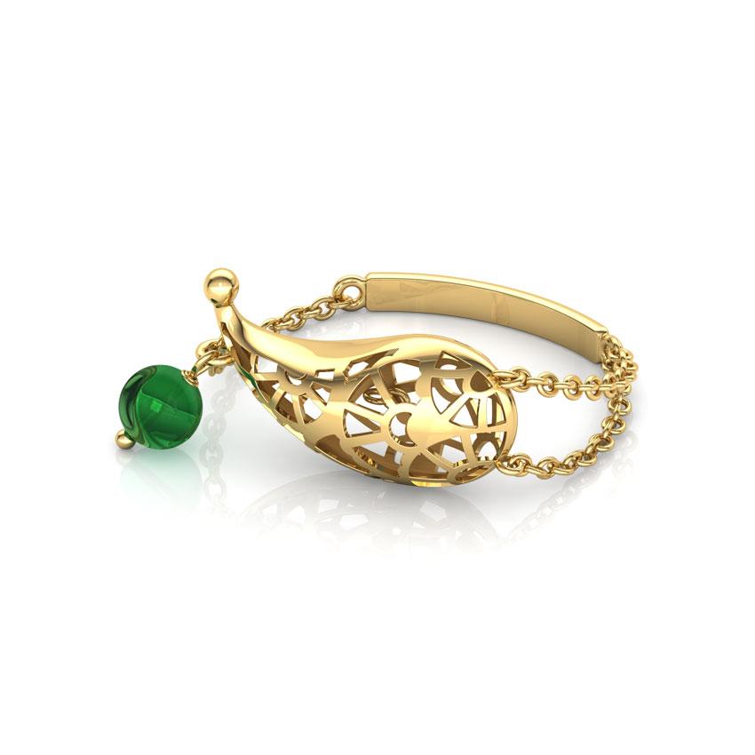Gleaming Paisley Ring