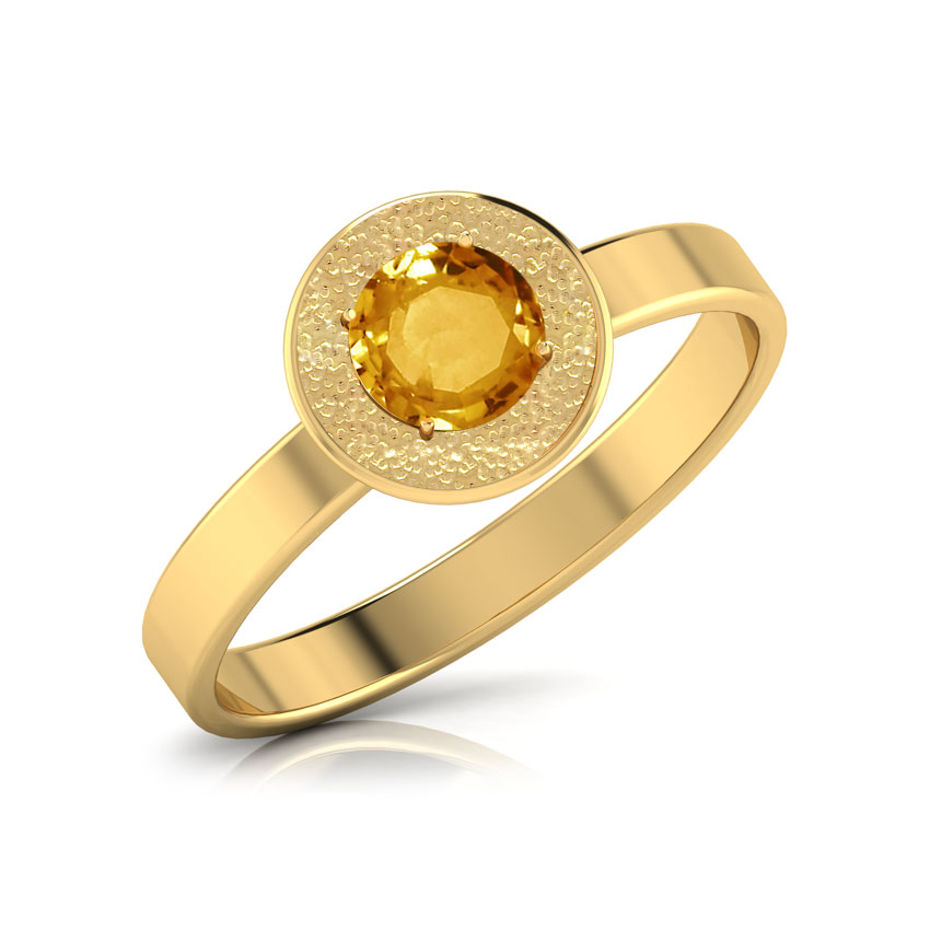 Eternal Flame Citrine Ring