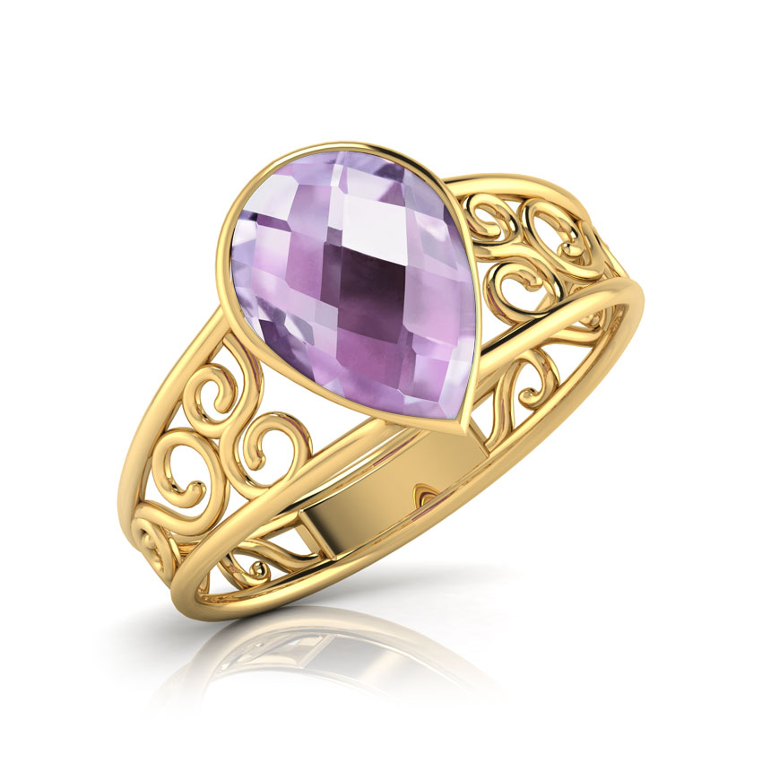 Poire Amethyst Ring