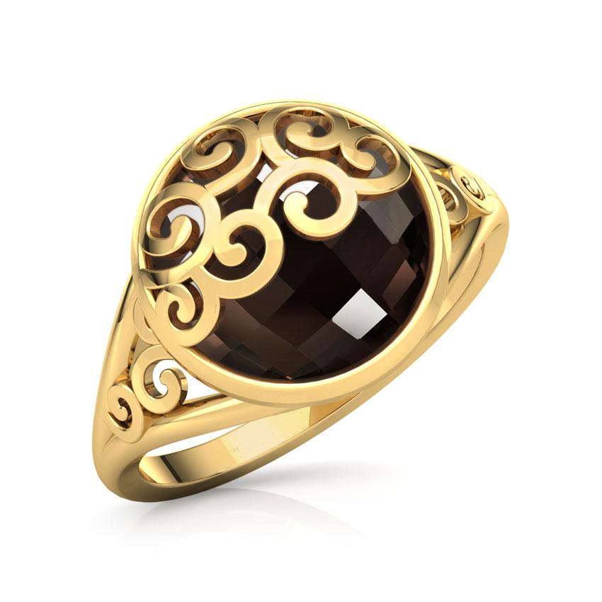 Swish Gemstone Ring