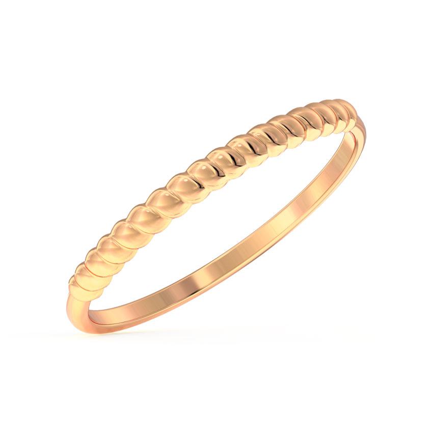Gold Rings 14 Karat Rose Gold Swivel Stackable Gold Ring
