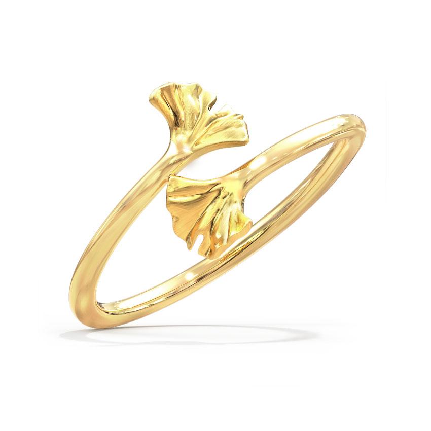 Alluring Ginkgo Ring