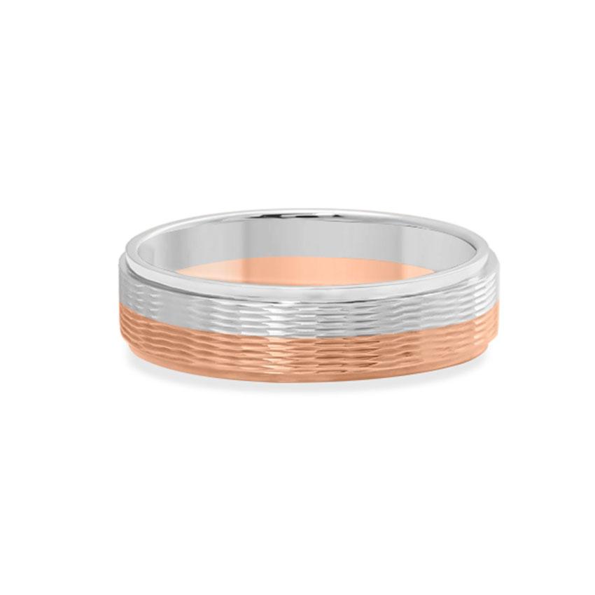Platinum,Gold Rings Platinum 950, 18 Karat Two Tone Gold Oliver Platinum Band for Men