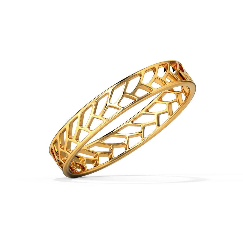 Gold Rings 18 Karat Yellow Gold Weave Cutout Gold Band