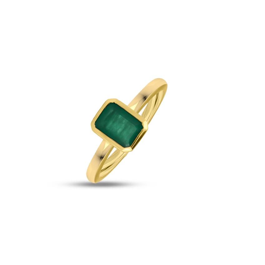 Gold,Gemstone Rings 18 Karat Yellow Gold Milo Gemstone Ring