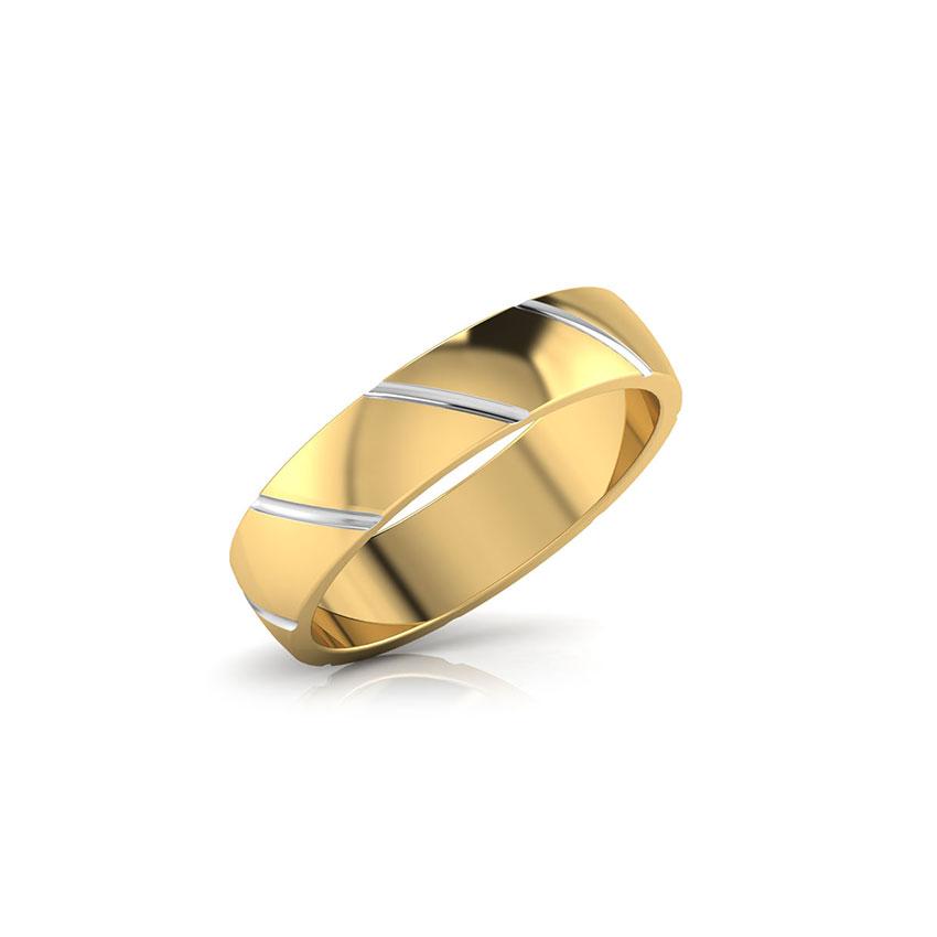 Gold Rings 18 Karat Yellow Gold Ross Gold Band for Men