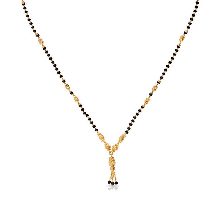 Gold modern mangalsutra