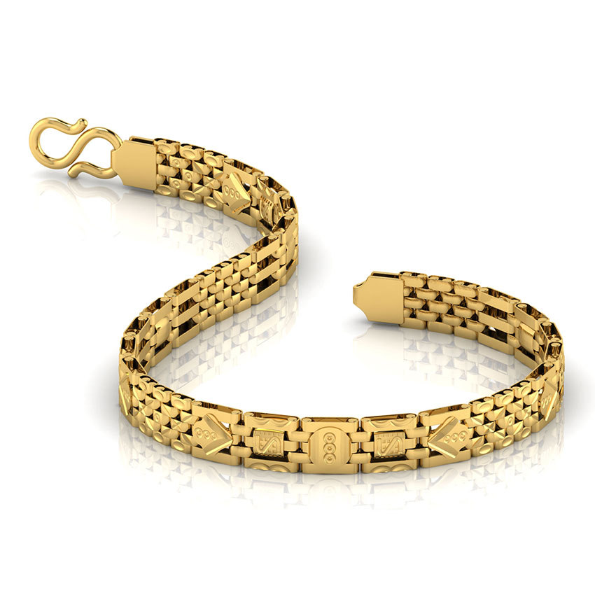 Geometric Lined Men's Bracelet