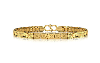 Etched Pattern Strap Men's Bracelet