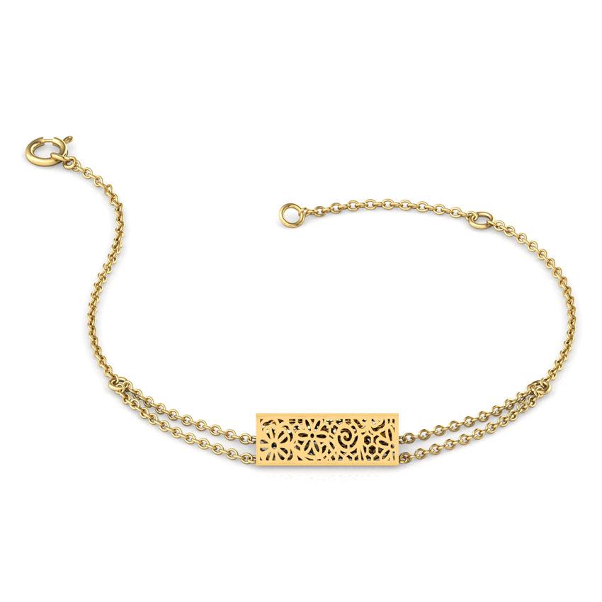 Jasper Triangular Lace Chain Bracelet