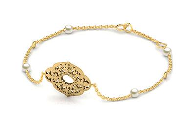 Gold Bracelets 18 Karat Yellow Gold Arianna Cutout Gemstone Bracelet