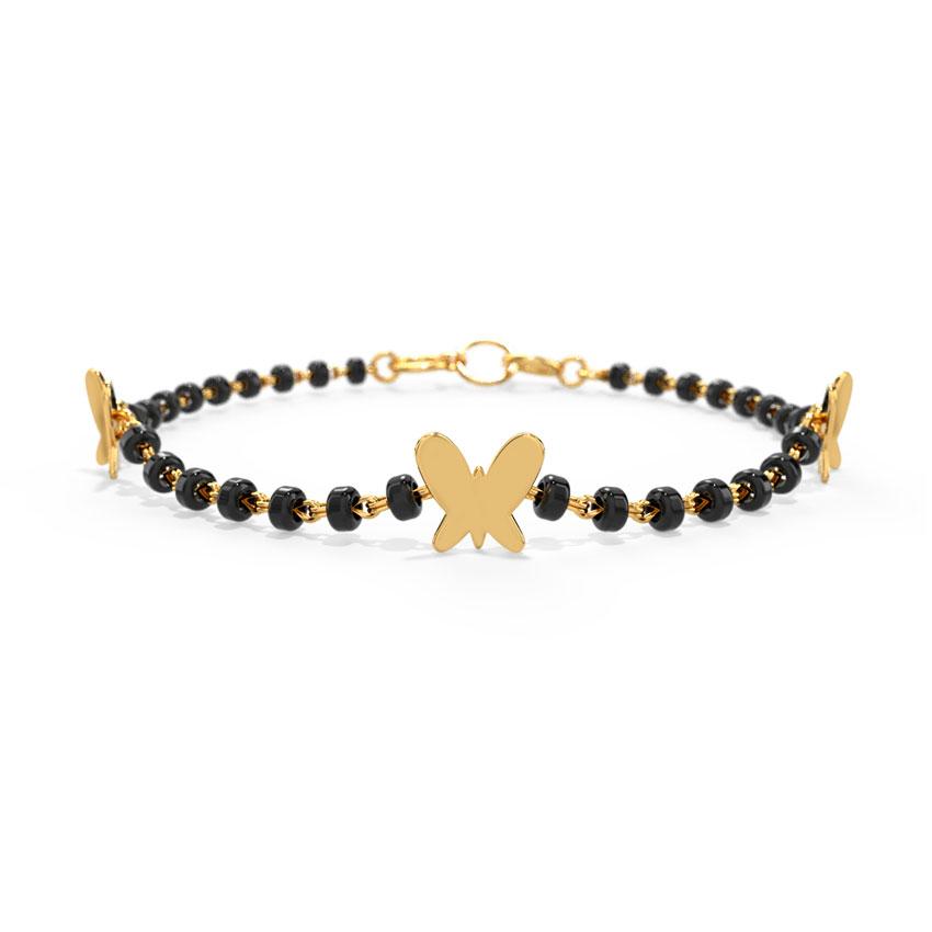 Gold Bracelets 18 Karat Yellow Gold Flutter Baby Nazaria Gold Bracelet