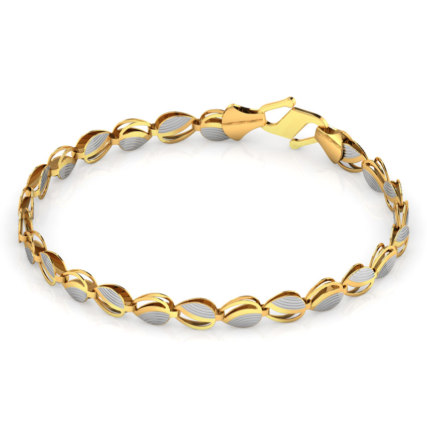 Juana Leaf Linked Bracelet Jewellery India Online - CaratLane.com