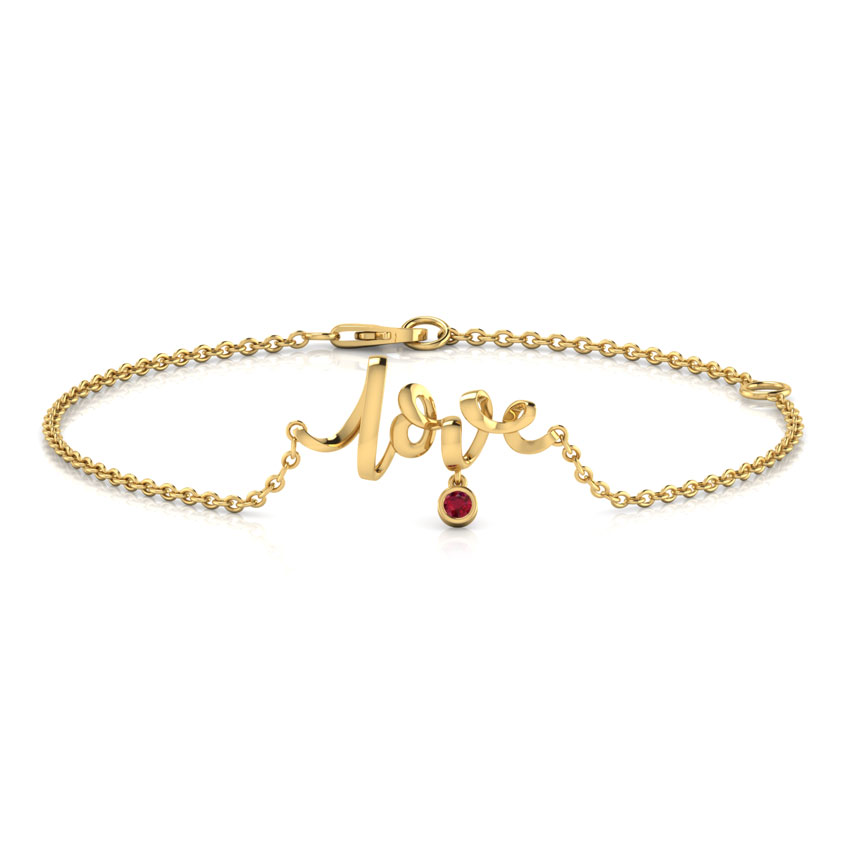 Love Cursive Bracelet