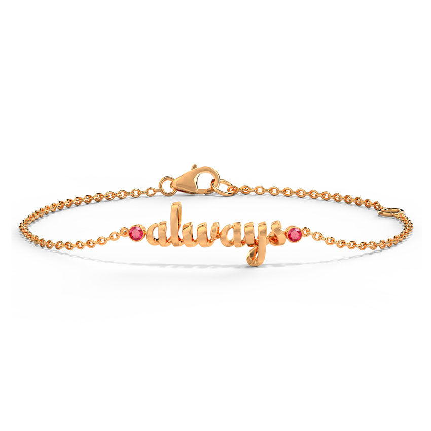 Always Cursive Bracelet