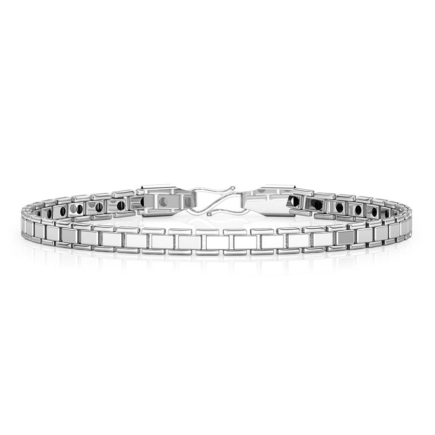 Classic Platinum Links Bracelet Jewellery India line CaratLane