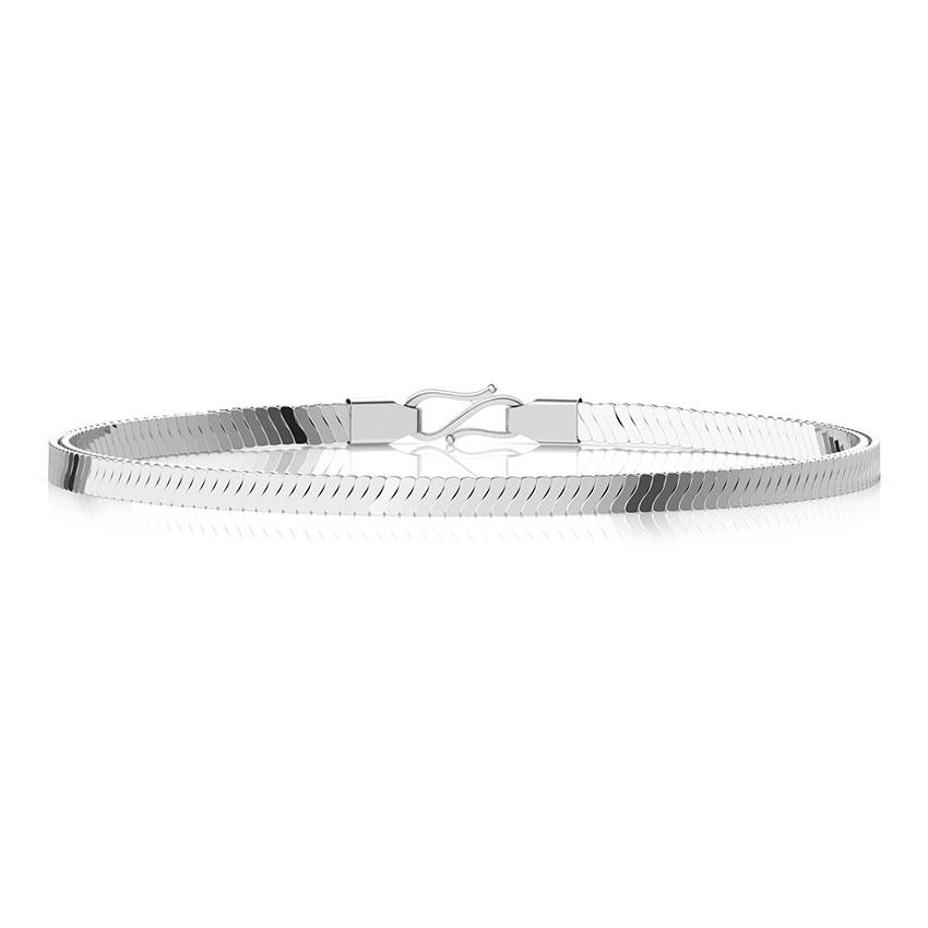Divine Platinum Curb Bracelet