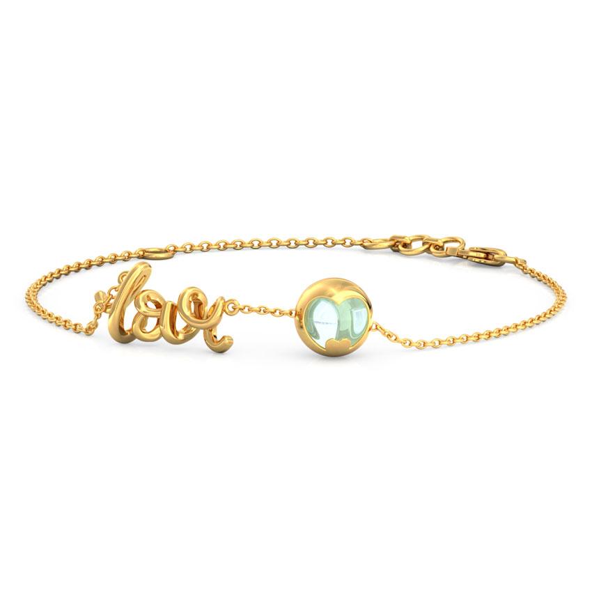 Topaz Orb Love Bracelet