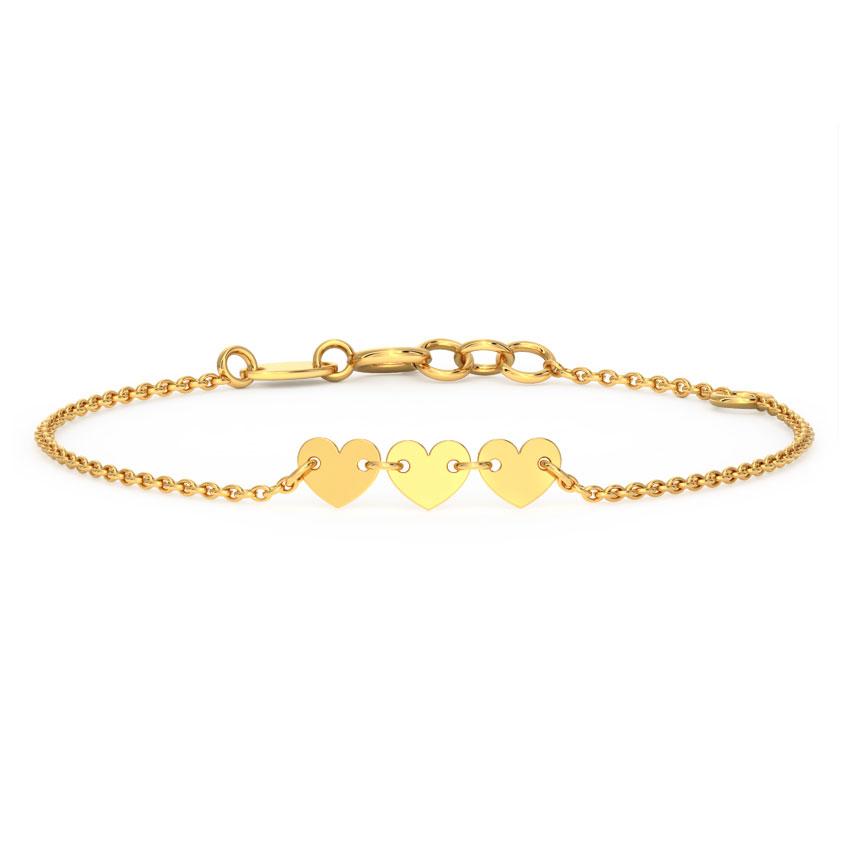 Trio Heart Bracelet
