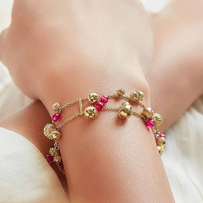 Sanjukta Gold Bracelet