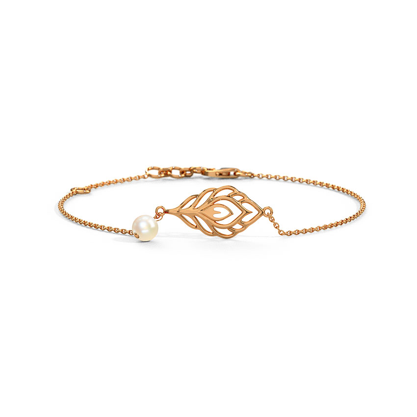 Feather Gold Bracelet