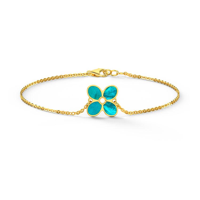 Blooming Reversible Mother of Pearl Bracelet