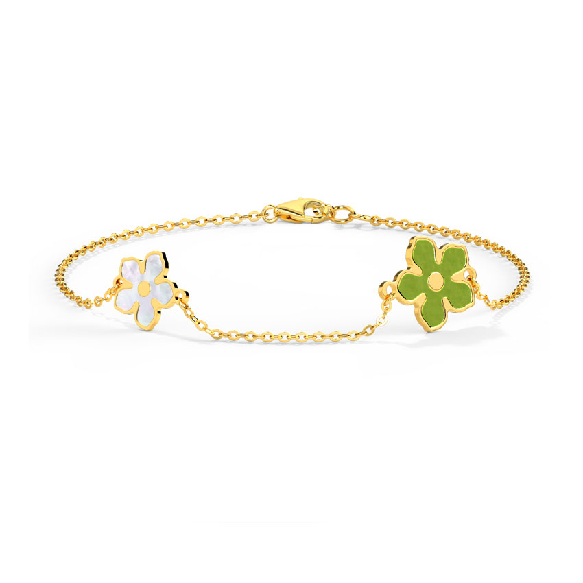Pansy Mother of Pearl Bracelet