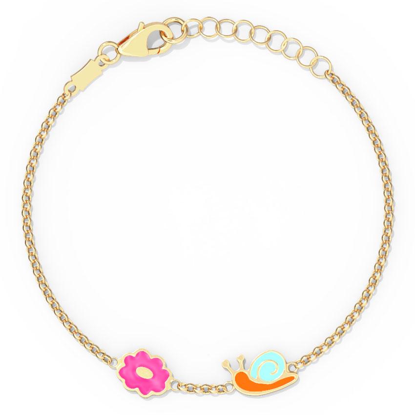 Lovable Snail Kids Bracelet